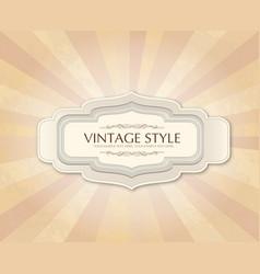 vintage frame over retro textured background vector image