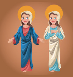 Virgin mary spiritual image vector