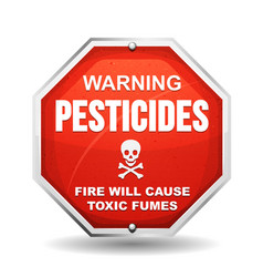 warning pesticide danger vector image