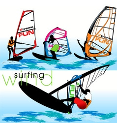 windsurf set vector image vector image