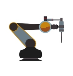 Arm robot technology android metal icon vector