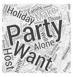 Why you should host a thanksgiving party word vector