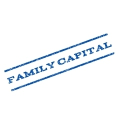 Family capital watermark stamp vector