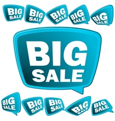 Big sale tags  eps8 vector