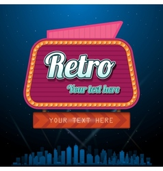 Retro motel sign with copyspace vector image