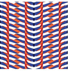 Red and blue line plastic pattern vector