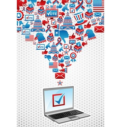 Usa elections electronic voting vector