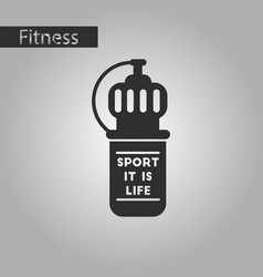 Black and white style icon sports bottle vector
