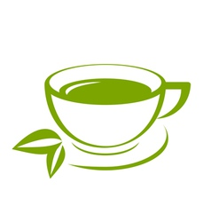 Green tea icon vector image