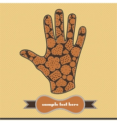 Composition with cookies on the handprint vector