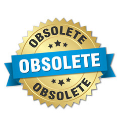 Obsolete round isolated gold badge vector