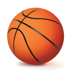 Realistic basketball isolated on white vector