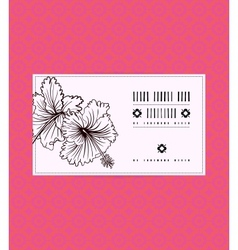 Vintage card with hibiscus flower vector