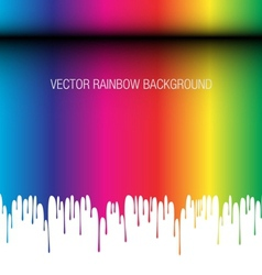 Rainbow melting background vector