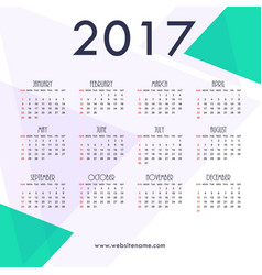 2017 new year calendar template design with vector