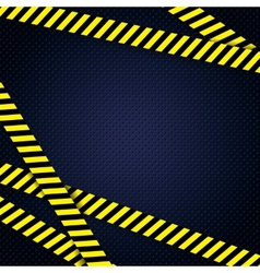 Danger yellow tape grunge background vector