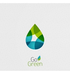 Green leaf nature concept vector