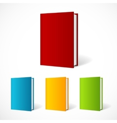 Book cover set perspective vector