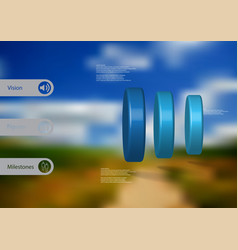 3d infographic template with cylinder vertically vector