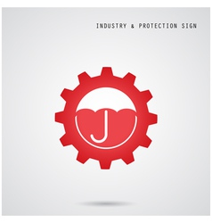 Umbrella sign and gear icon vector