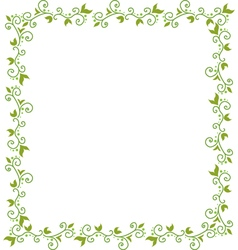 Green floral frame vector