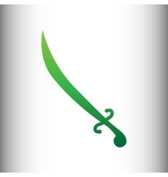 Sword sign green gradient icon vector