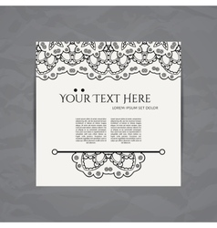 Design card template business card with vector