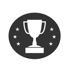Trophy cup with stars icon 2 vector