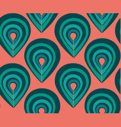 abstract pattern with peacock feathers elements vector image vector image