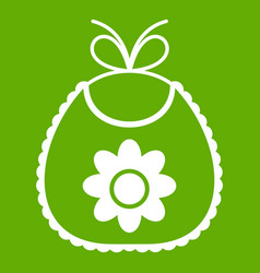 baby bib icon green vector image