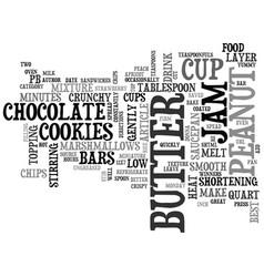 Best cookies pb jam bars text word cloud concept vector