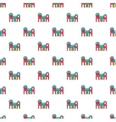 Bounce house pattern seamless vector