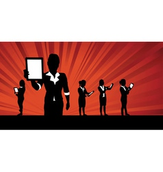 business people tablets1 vector image vector image