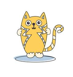cat cute funny vector image