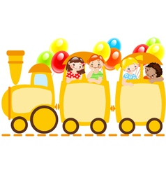 children train vector image vector image
