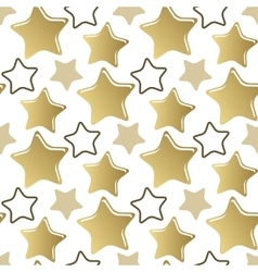 Decorative seamless pattern gold stars vector image vector image