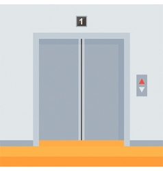 Flat design elevator doors icon vector image