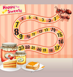 Game template with ants and jam vector