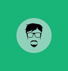 geek guy vector image vector image