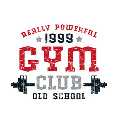 Gym club emblem vector