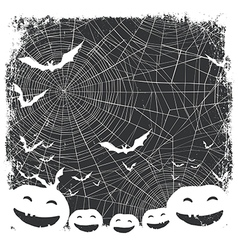 Halloween border for design bats silhouettes and vector