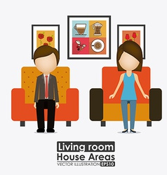House areas desing vector