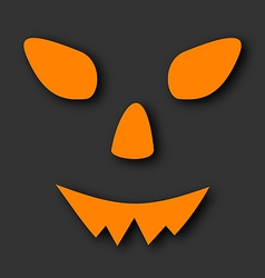 Jack o lantern pumpkin faces glowing on black vector image vector image