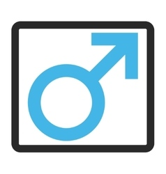 Male symbol framed icon vector