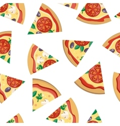 Pizza pieces seamless flat pattern vector