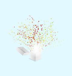 popper confetti paper shoot explode from white vector image vector image