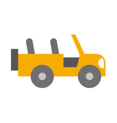 safari jeep isolated icon vector image