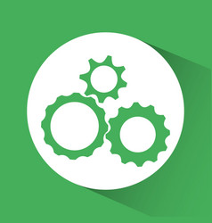 Three gears two tone emblem icon image vector