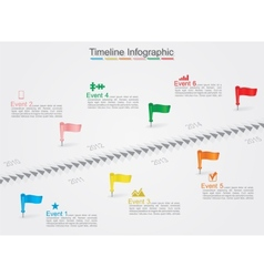 Timeline infographics with icons vector image vector image