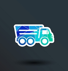 Tipper truck building icon button logo symbol vector